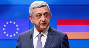 Serzh Sargsyan. Photo: REUTERS/Yves Herman
