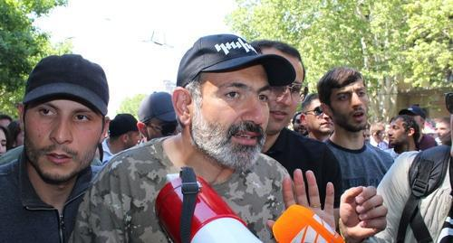 Nikol Pashinyan, April 25, 2018. Photo by Tigran Petrosyan for the Caucasian Knot