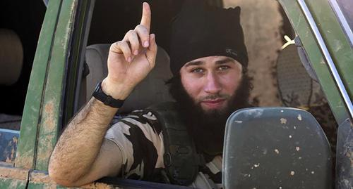 "A militant of the terrorist organization ""Islamic State"" (IS) banned in Russia. Photo: REUTERS"