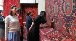 "An exhibition of carpets in the State Historical and Local Lore Museum of Nagorno-Karabakh in Stepanakert. May 18, 2018. Photo by Alvard Grigoryan for the ""Caucasian Knot"""