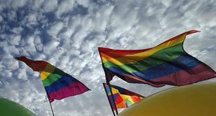 LGBT flags. Photo https://www.svoboda.org/a/28496059.html