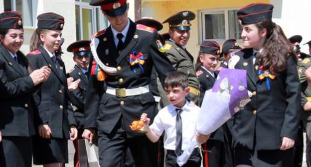 "Graduates of a military lycee. Photo by Alvard Grigoryan for the ""Caucasian Knot"""