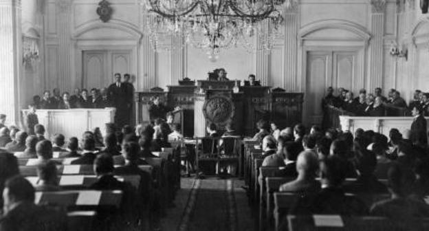 A constitutional assembly of Georgia, 1919. National Archives of Georgia, photo courtesy of the press service of the government of Georgia