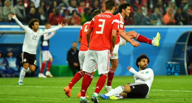Russia v Egypt 2018 FIFA World Cup match. Photo: REUTERS/Dylan Martinez