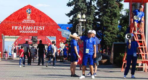World Cup 2018 fan zone in Volgograd. Photo by Vyacheslav Yaschenko for the Caucasian Knot