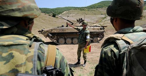 Military exercises. South Ossetia. Photo © Sputnik / Sergey Karpov https://sputnik-ossetia.ru/South_Ossetia/20160926/3076281.html
