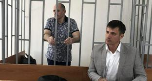 Oyub Titiev and his advocate Pyotr Zaikin (right) in the court. Photo: press service of HRC 'Memorial'