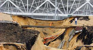 "Landslide at the ""Volgograd Arena"" Stadium. Photo by Vyacheslav Yaschenko for the Caucasian Knot."