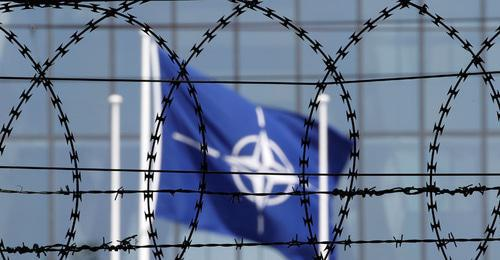 NATO flag. Photo: REUTERS/Christian Hartmann