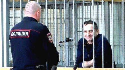 "Timur Khamkhoev in the Nalchik Military Court. Photo: screenshot of the video by the ""Caucasian Knot"""