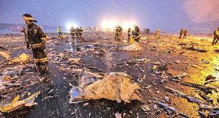 At the site of the crash of Boeing 737-800 aircraft, Rostov-on-Don, March 19, 2018. Photo: Press Service of the Governor of Rostov Oblast https://ru.wikipedia.org