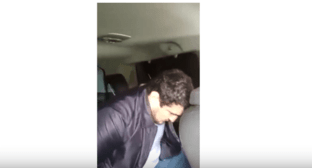 Detention of Magomed Rashidov. Screenshot from video posted by RIA Derbent, https://www.youtube.com/watch?v=8SZ9iQxFJBs