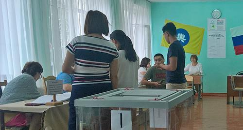 Voting in Elista, September 9, 2018. Photo by Badma Byurchiev for the Caucasian Knot
