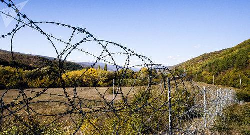 Georgia-South Ossetia border. Photo: Sputnik / Natalia Airiyan https://sputnik-ossetia.ru/South_Ossetia/20180505/6325992.html