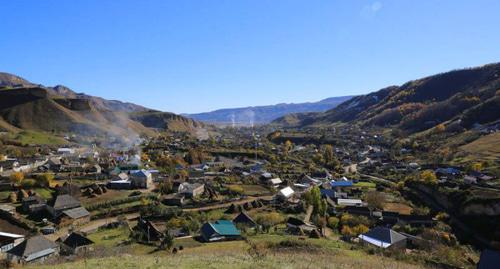 The village of Kendelen in Kabardino-Balkaria. Photo by Muslimbek07 https://ru.wikipedia.org/wiki/Кёнделен