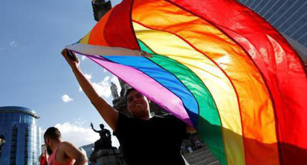 The LGBT community flag. Photo: REUTERS/Henry Romero