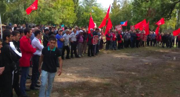 Rally against the pension reform in Makhachkala, September 23, 2018. Photo by provided to the Caucasian Knot by Ruslan Lugovoi