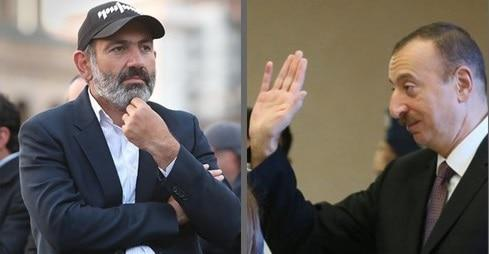 Nikol Pashinyan (left) and Ilham Aliyev (right). Collage.