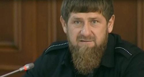 Ramzan Kadyrov. Photo: screenshot of the video www.grozny.tv