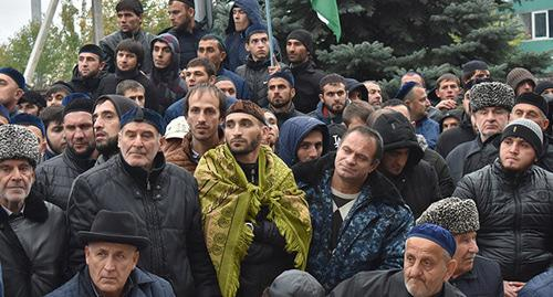 Rally participants in Magas, October 7, 2018. Photo is provided to the Caucasian Knot by Yakub Gogiev