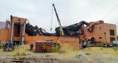 "The ""Electrozinc"" plant after a fire. Photo by Emma Marzoeva for the ""Caucasian Knot"""