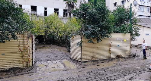 "Damage caused by flooding in Khosta (Krasnodar Territory). Photo by Svetlana Kravchenko for the ""Caucasian Knot"""