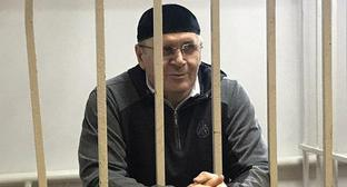 "Oyub Titiev in the court room on November 12, 2018. Photo by Patimat Makhmudova for the ""Caucasian Knot"""