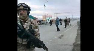 "The police photos made near the checkpoint in Shosseynaya street in Grozny. Screenshot of the ""Operative Line"""