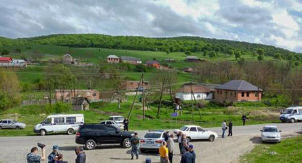 The village of Yandare in the Nazran District of Ingushetia. Photo by the  the Ministry of Internal Affairs for Ingushetia, 06.mvd.ru