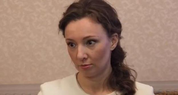 "Anna Kuznetsova. Photo: screenshot of the video ""Kuznetsova: Female circumcision is unacceptable if doctors say it is harmful"" https://www.youtube.com/watch?v=2Qary-VQyP8"