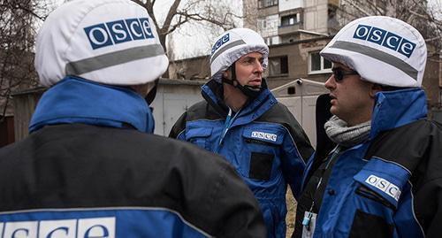 OSCE observers. Photo: CC BY 2.0 / OSCE Special Monitoring Mission / OSCE SMM monitoring