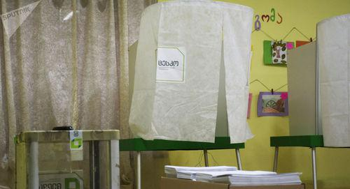 Polling booth at the presidential election in Georgia. Photo: © Sputnik / Denis Aslanov https://sputnik-georgia.ru/election-2018/20181129/243208948/Itogi-vyborov-mogut-annulirovat-na-pyati-uchastkakh-v-Gruzii.html