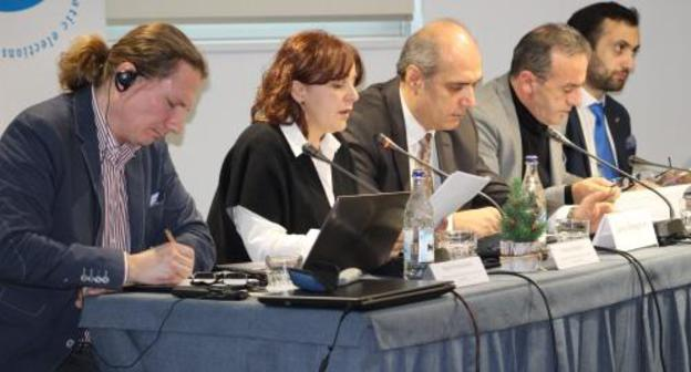 Members of observation missions at press conference in Yerevan. Photo by Tigran Petrosyan for the Caucasian Knot