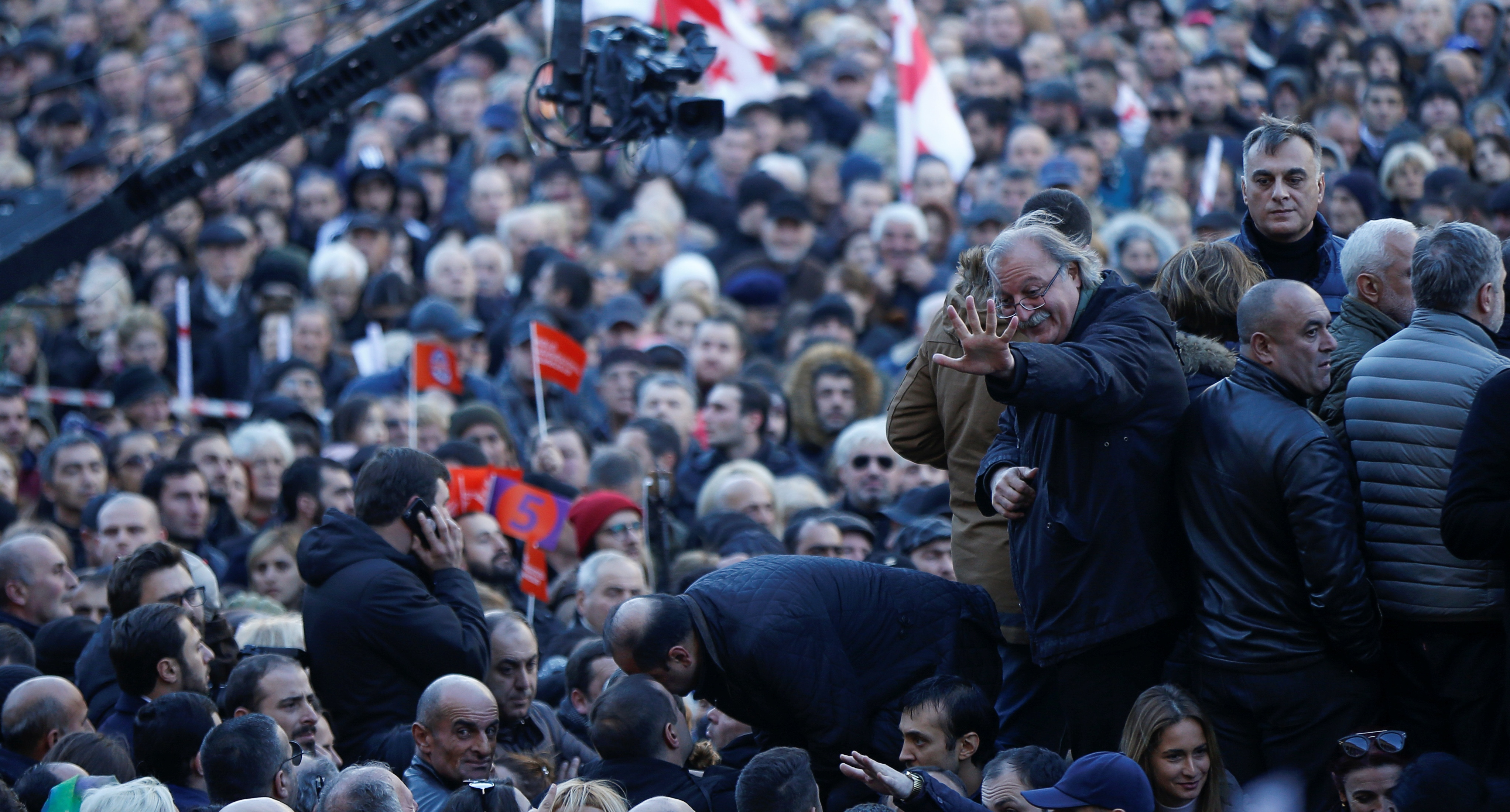 Protest rally in Tbilisi, December 2018. Photo: REUTERS/David Mdzinarishvili