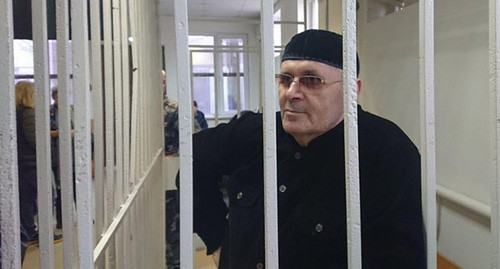 Oyub Titiev in the courtroom. Photo by Patimat Makhmudova for the Caucasian Knot