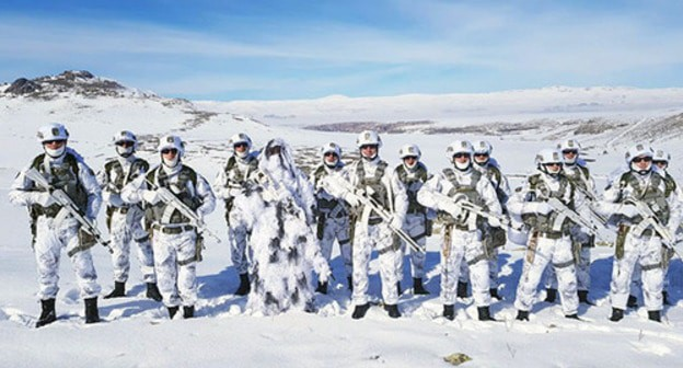 Azerbaijani soldiers during military training. February 2019. Photo by the Ministry of Defence of Azerbaijan