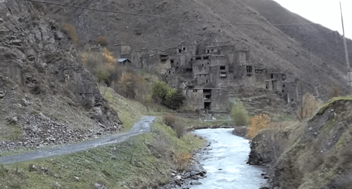 Mountain village of Shatili in Georgia. Screenshot from film 'Khevsureti - Shatili – Mutso', Kirill Shatilof / YouTube