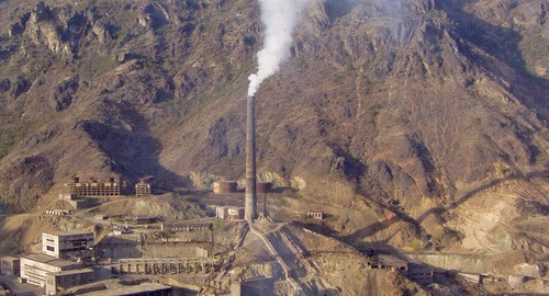 Alaverdi Copper Smelting Factory. Photo: Yakovlev Sergey https://ru.wikipedia.org/