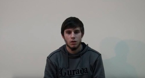 Alibek Mirzekhanov, the blogger. Screenshot of the video by the user Gasan Gadjiev