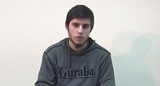 Alibek Mizerkhanov, the blogger. Photo: screenshot of the video by the user Shamil Yusupov https://ok.ru/video/13596232228