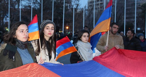 Rally against territorial concessions to Azerbaijan, Yerevan, February 26, 2019. Photo by Armine Martirosyan for the Caucasian Knot