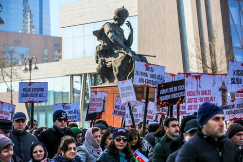 Rally in memory of victims of the Khojaly tragedy, Baku, February 26, 2019. Photo by Aziz Karimov for the Caucasian Knot