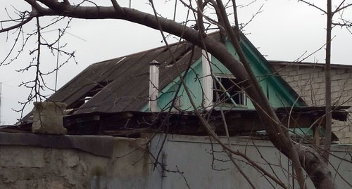 House in Kardanov Brothers Street in Nalchik after special operation. Photo by Lyudmila Maratova for the Caucasian Knot