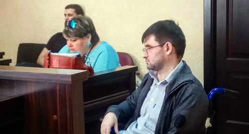 "Vladislav Khokhlachev and his advocate at the court session. Photo by Konstantin Volgin for the ""Caucasian Knot"""