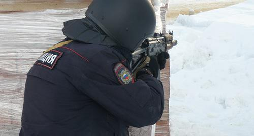 Law enforcer. Photo: press service of the National Antiterrorist Committee, http://nac.gov.ru
