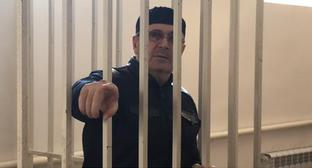 "Oyub Titiev in the court room. Photo: screenshot of the video by the ""Caucasian Knot"""