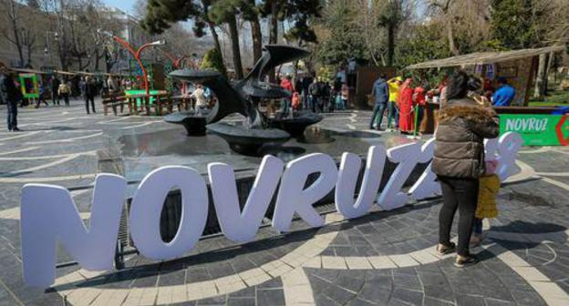 "A symbol of Novruz Bayram installed in the centre of Baku. Photo by Aziz Karimov for the ""Caucasian Knot"""