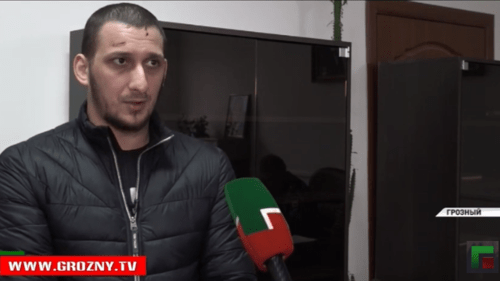 Muslim Djambekov. Screenshot from news broadcasting by GTRK 'Grozny', March 29, 2019, https://www.youtube.com/watch?v=ns-5-o3IxDM