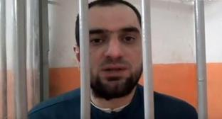 "Aslan Cherkesov, a resident of Kabardino-Balkaria, convicted for killing a football fan. Photo: screenshot of the video by the ""Caucasian Knot"""