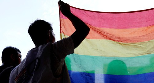 The flag of LGBT. Photo: REUTERS/Tyrone Siu